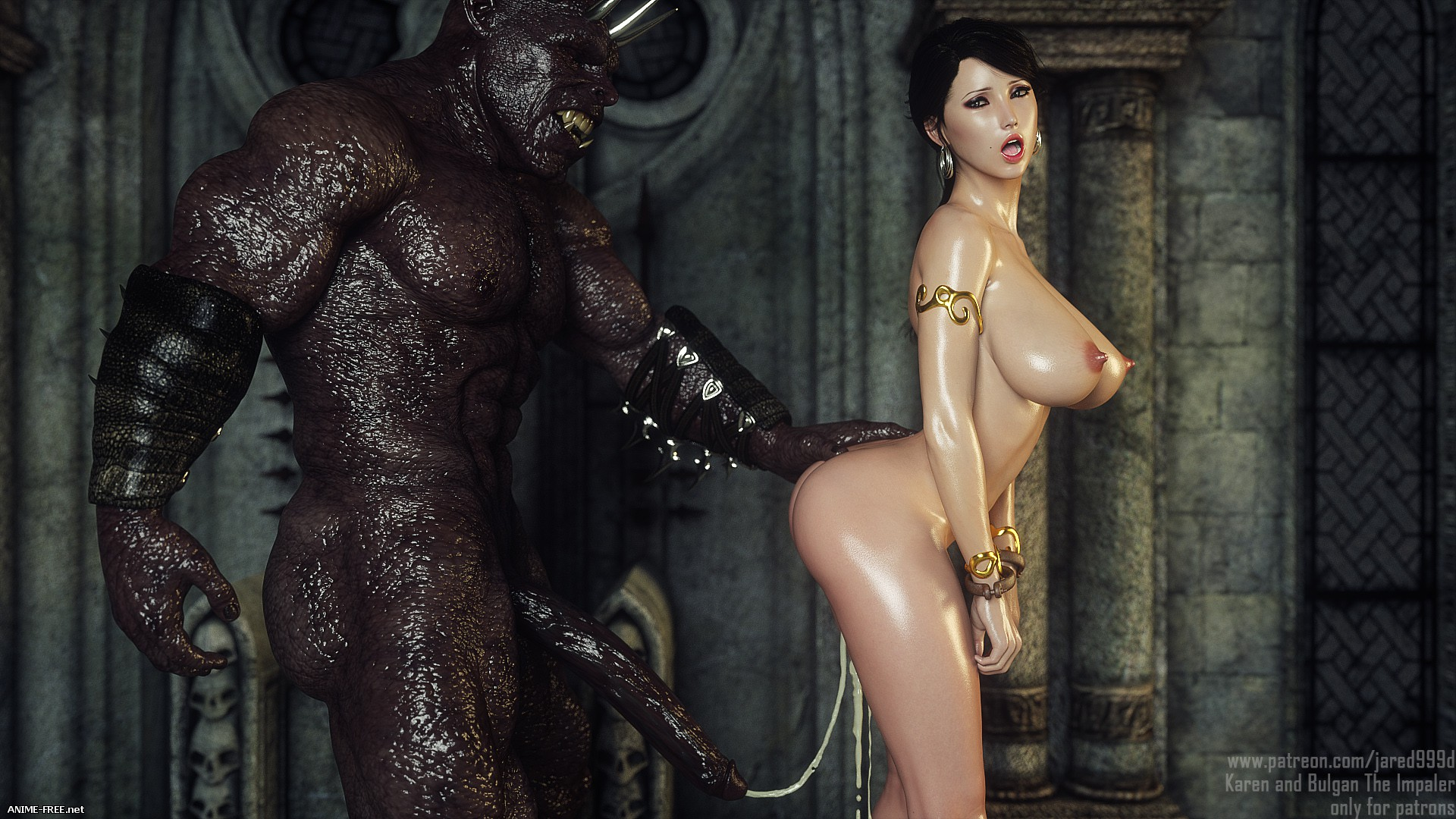 Karen and Bulgan the Impaler [Uncen] [3DCG] [ENG] Porn Comics
