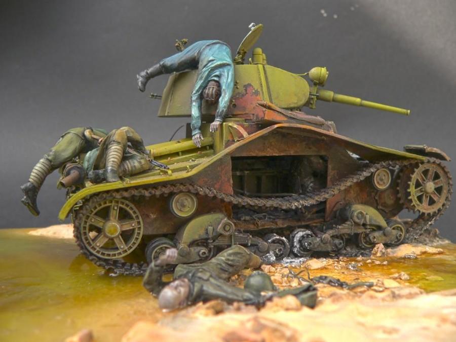 Диорама с танком