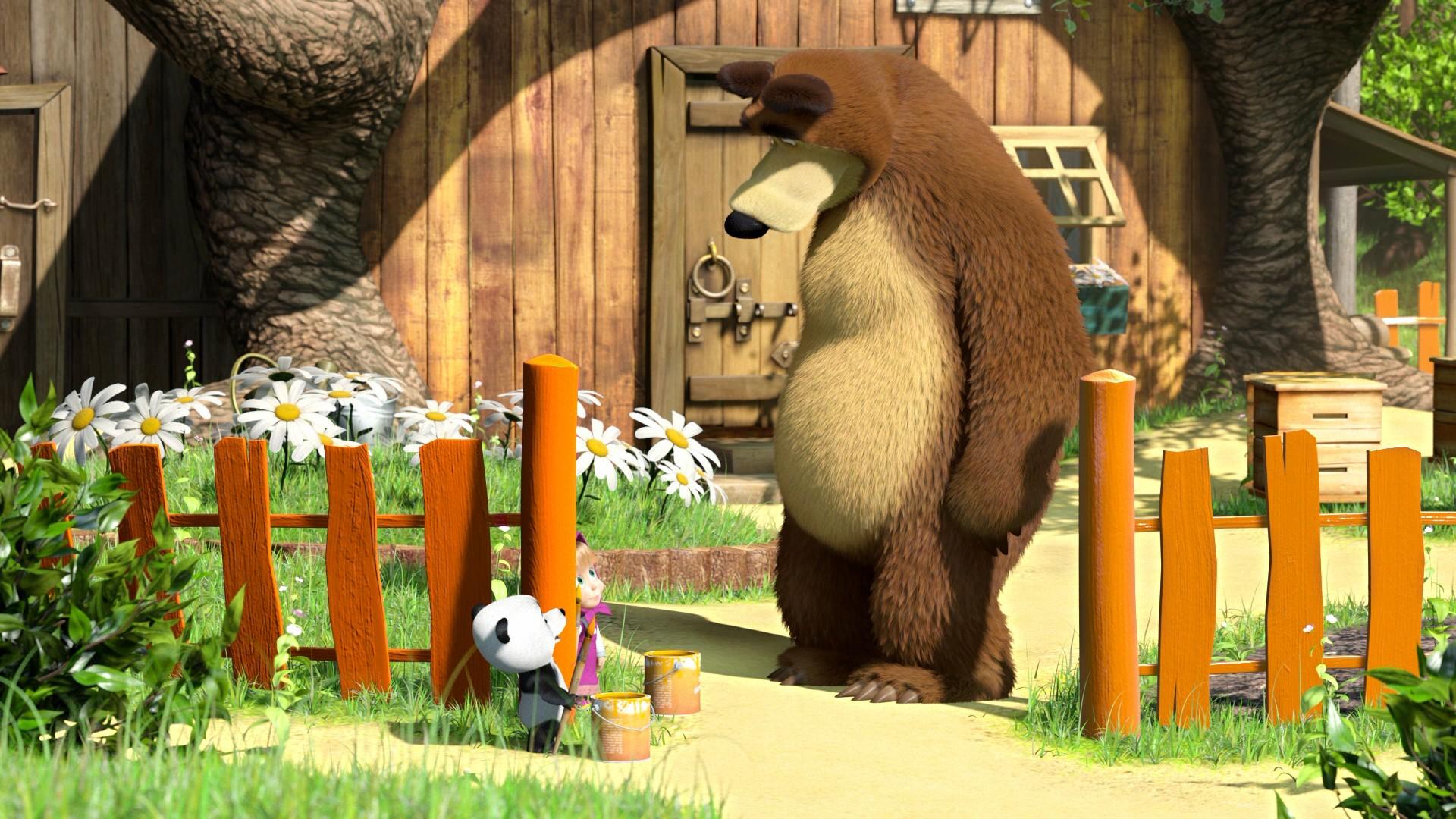 Маша и Медведь [01-69] + Машины Сказки [01-26] + Машкины страшилки [01-25] (2009-2018) BDRip 1080p, WEB-DL 1080p