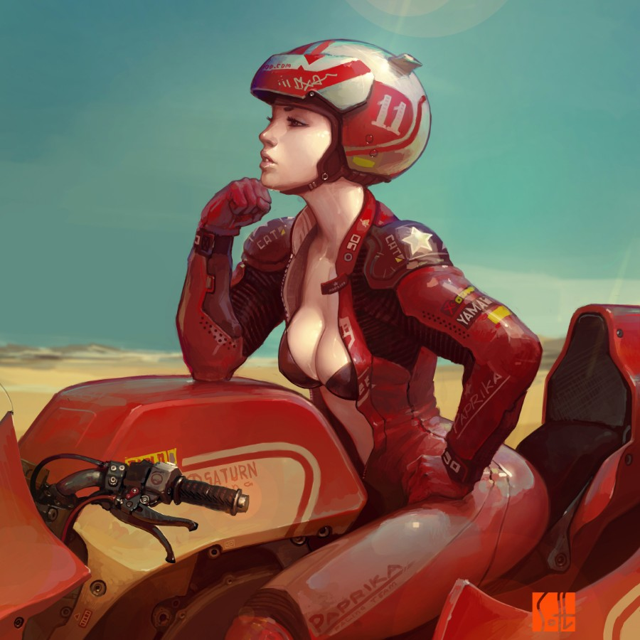 На квадроцикле