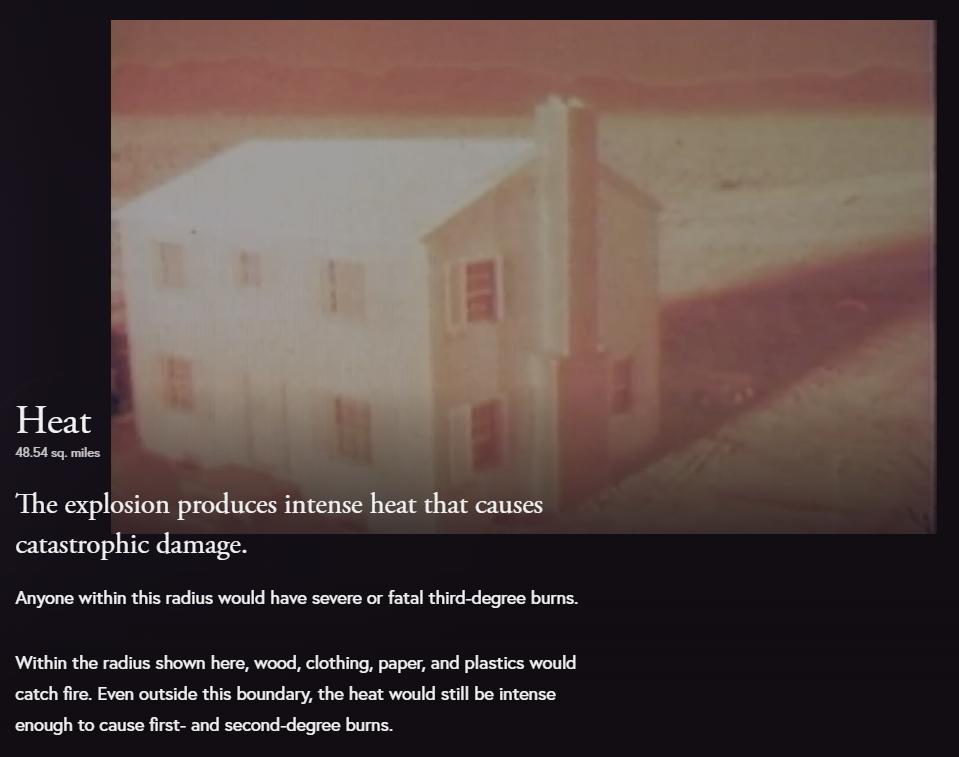 Пользователям предложили увидеть посмотреть последствия от ядерного взрыва