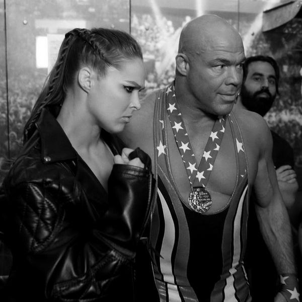 Черно-белое закулисье WWE WrestleMania 34