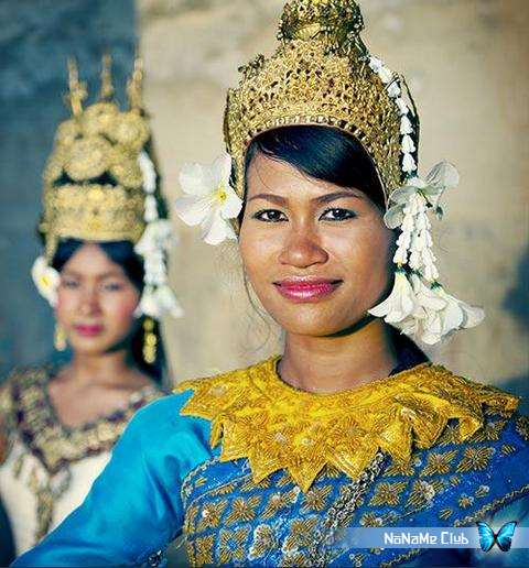 Растровый клипарт - Buddhism Asian traditional clothes dance and jewelry [JPG]