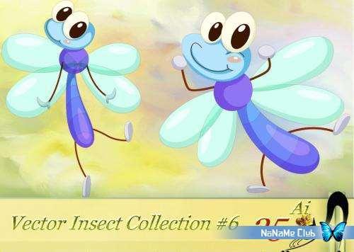 Векторный клипарт - Vector Insect Collection #6 [AI]