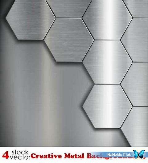 Векторный клипарт - Creative Metal Backgrounds 19 [AI]
