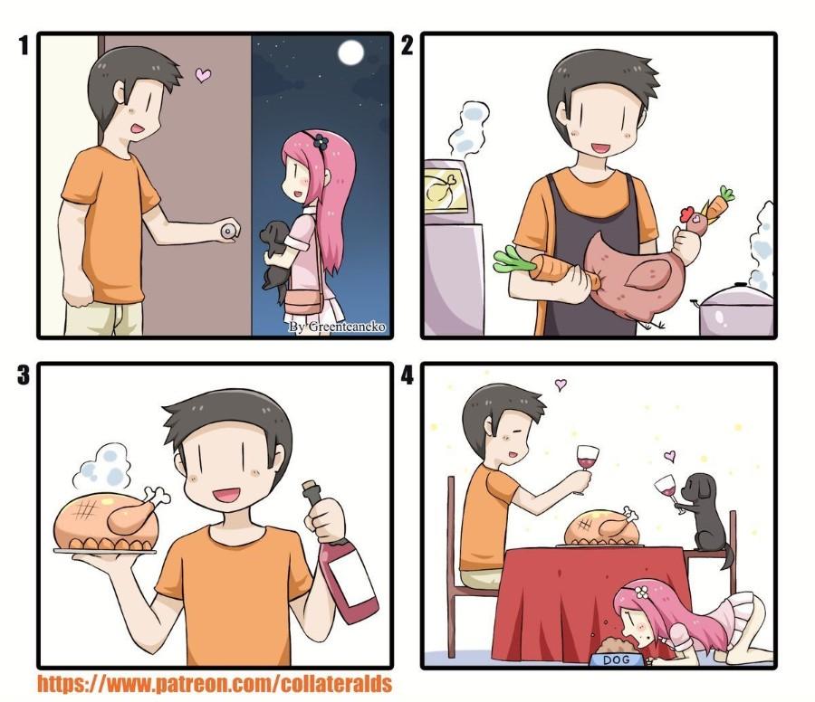 Ужин с питомцем