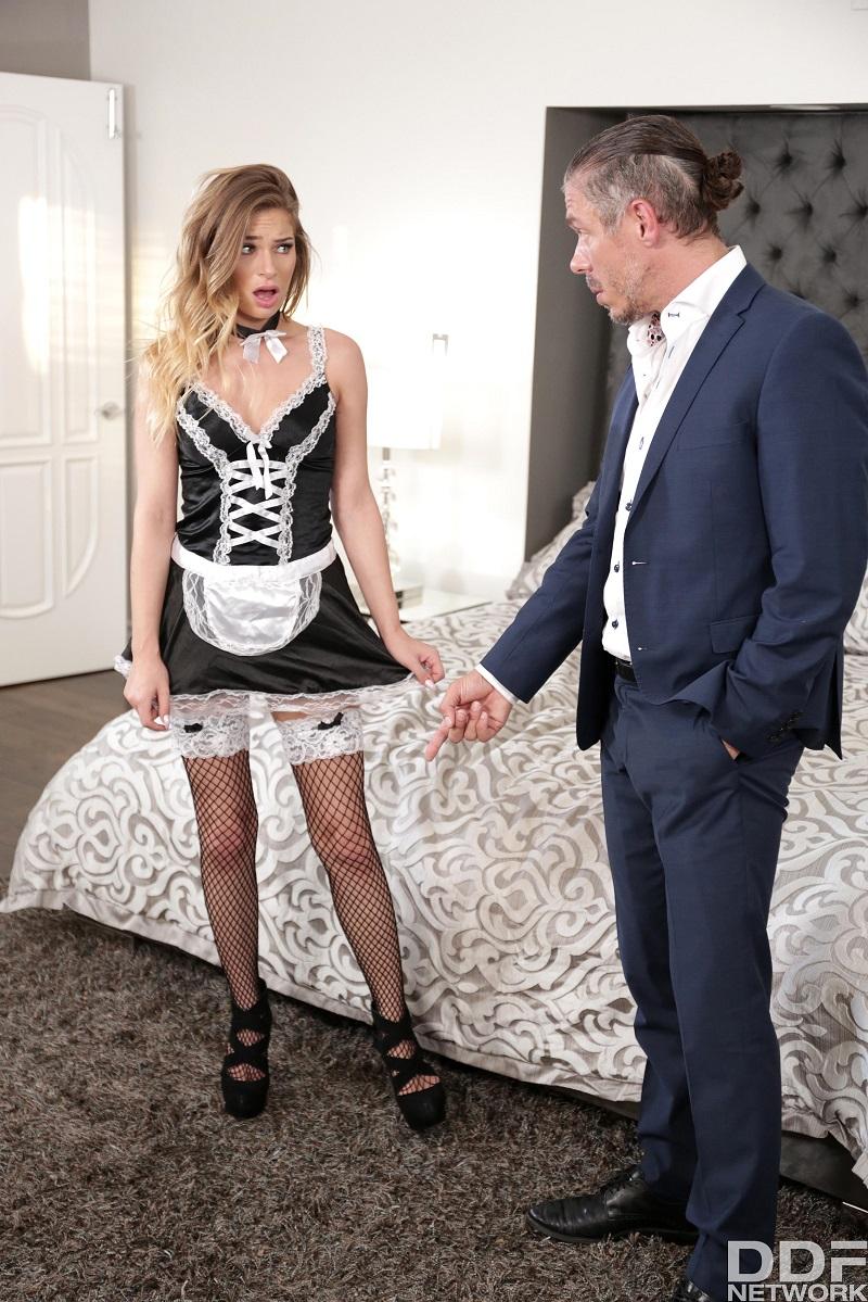 Босс жестко наказал свою горничную за плохую уборку. / Sydney Cole - Horny Maid Banged By Boss (2018) HD 1080p