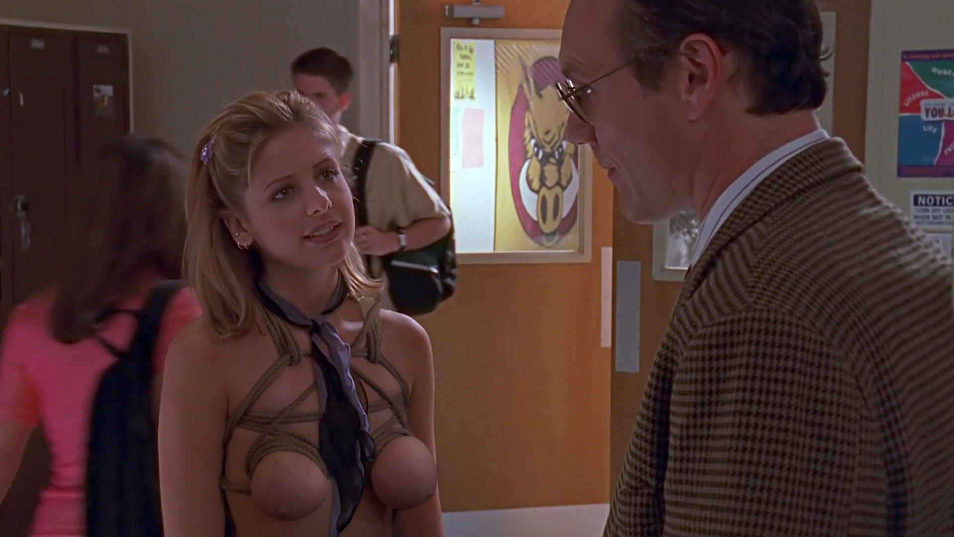 Puffy nipples in buffy naked the vampire slayer ass simone
