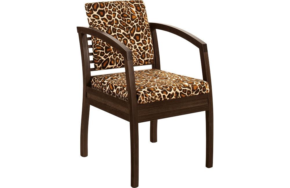 кресло с леопардовым принтом