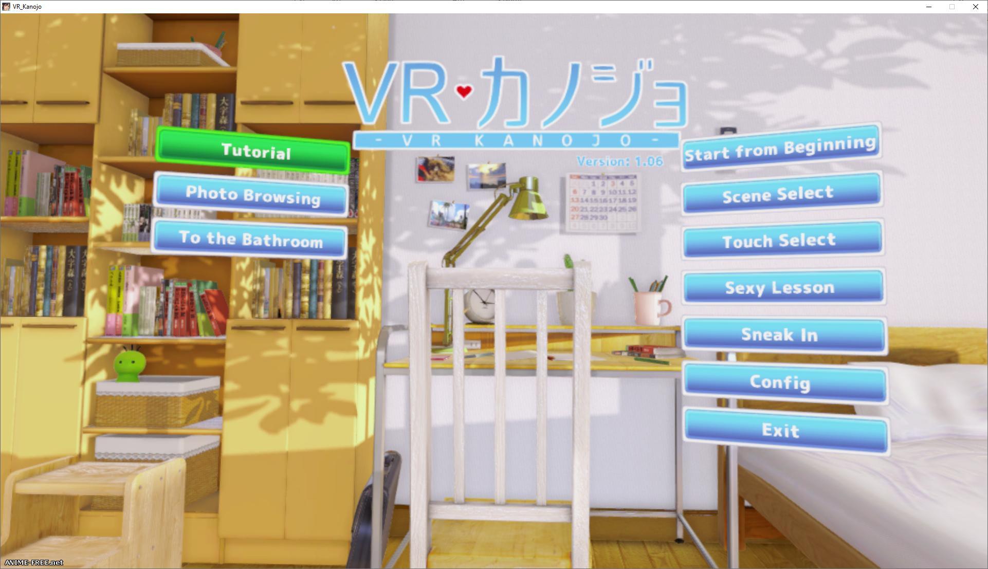 VR Kanojo / Виртуальная подружка [2018] [Uncen] [3DVR, SLG] [JAP,ENG] H-Game