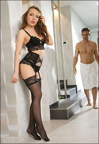 Lina Mercury - Black Lace Temptation