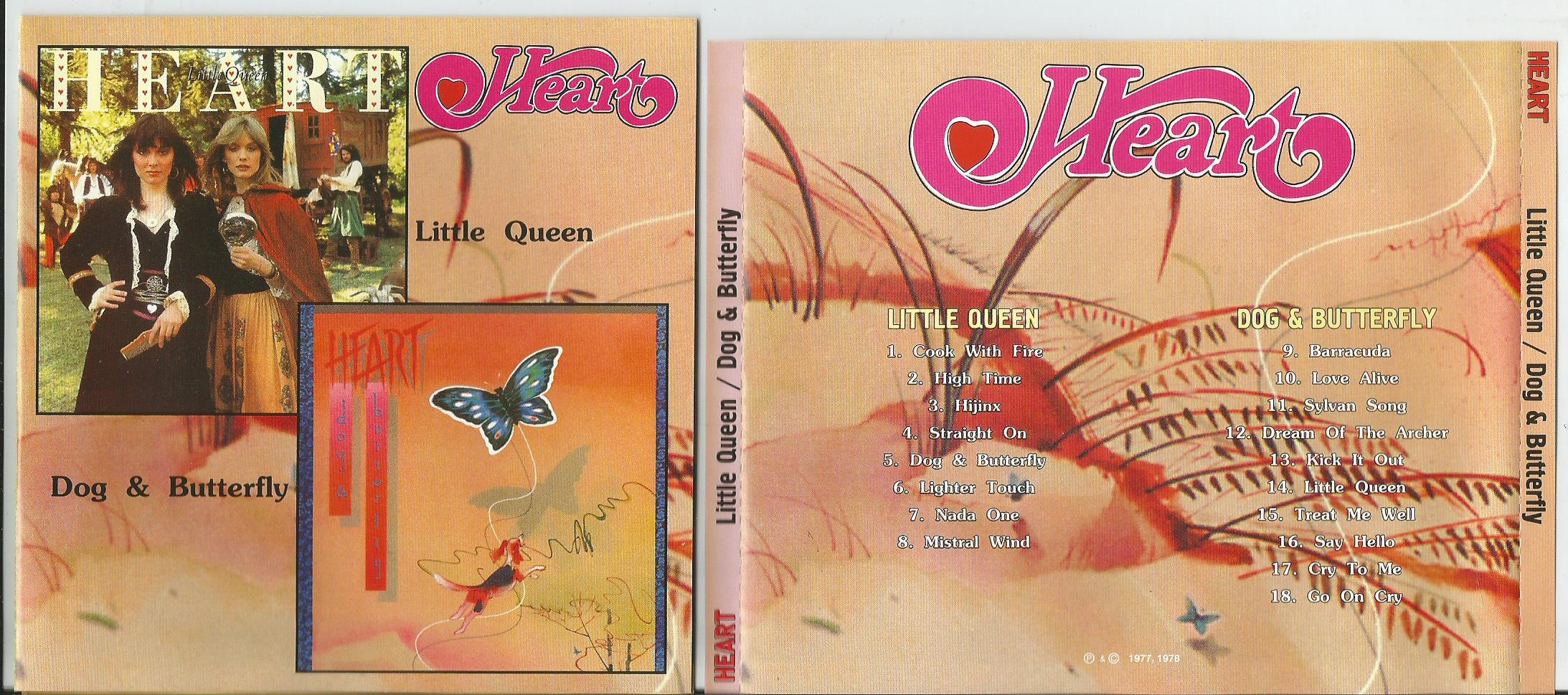 HEART Little Queen/ Dog & Butterfly (2 in 1CD)(with lyrics)
