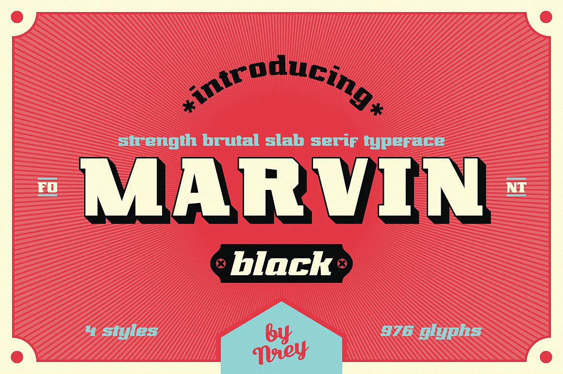 Шрифт Marvin black