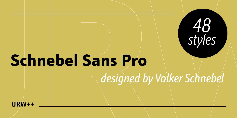 Шрифт Schnebel Sans Pro