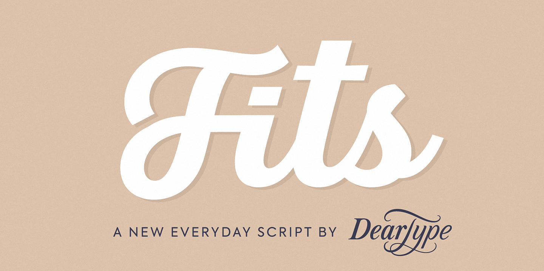 Шрифт Fits