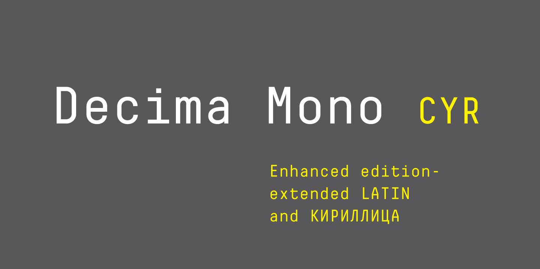Шрифт Decima Mono