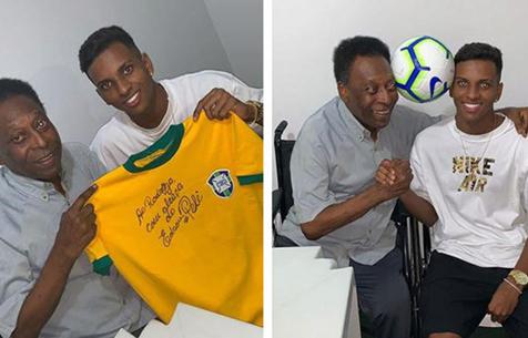 Родриго получил благословение от Короля футбола