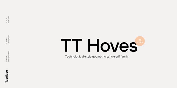 Шрифт TT Hoves