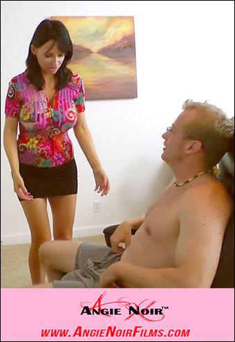 Angie Noir - Сняла стресс сыну глубоким отсосом / Let Your Stress Go Down My Throat! (2013) WEB-DL 720p |
