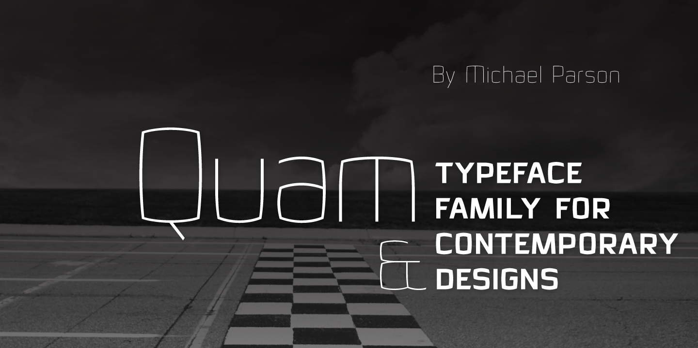 Шрифт Quam