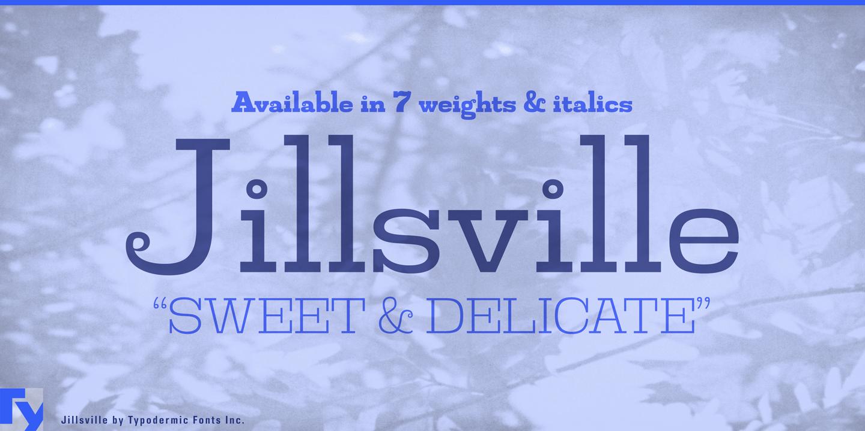Шрифт Jillsville