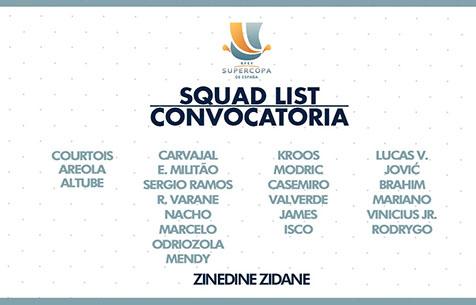 """Заявка """"Мадрида"""" на Суперкубок Испании"""
