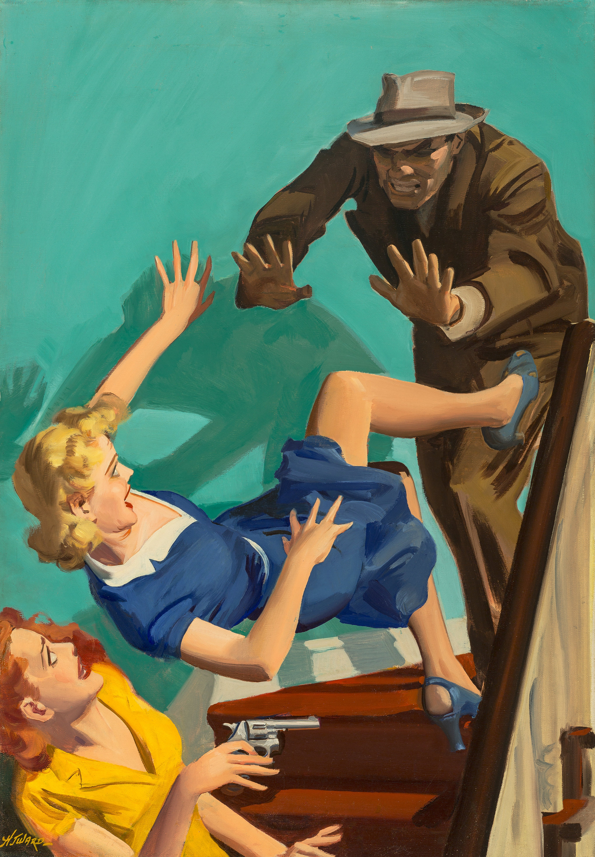 Extradite A Corpse, Private Detective Stories magazine cover, August 1943.jpg