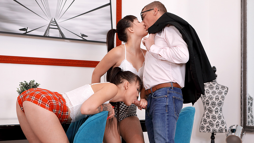 Sandra Zee, Lady Zee - Two hotties thank well-hung tutor with a threesome (2020) SiteRip |