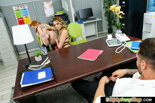 Charlotte Sins, Cleo Clementine - Charlotte Sins and Cleo Clementine will suck and fuck to keep their jobs (2020) SiteRip |