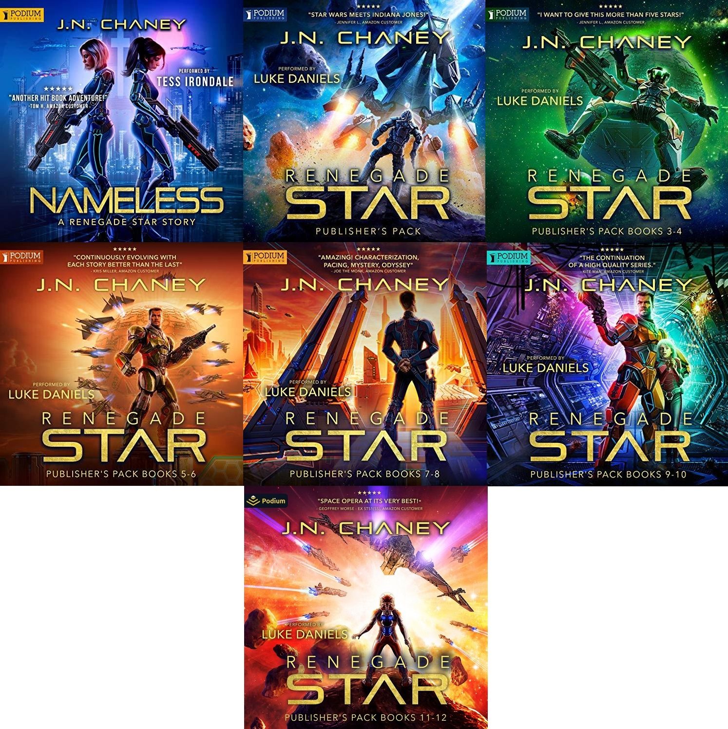 Renegade Star Series Book 0-12 - JN Chaney