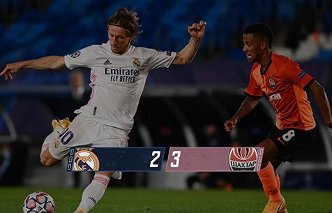 Real Madrid C.F. - FC Shakhtar Donetsk 2:3