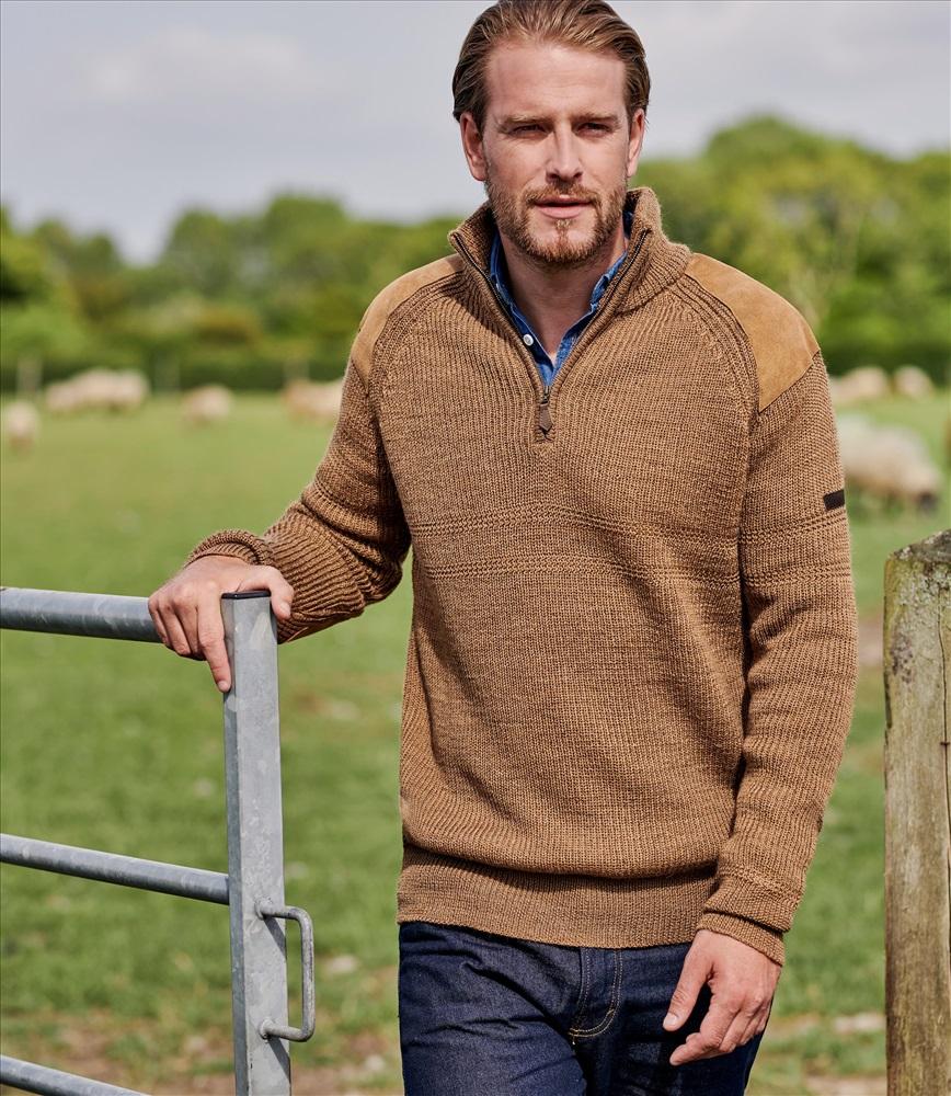 свитер из овечьей шерсти