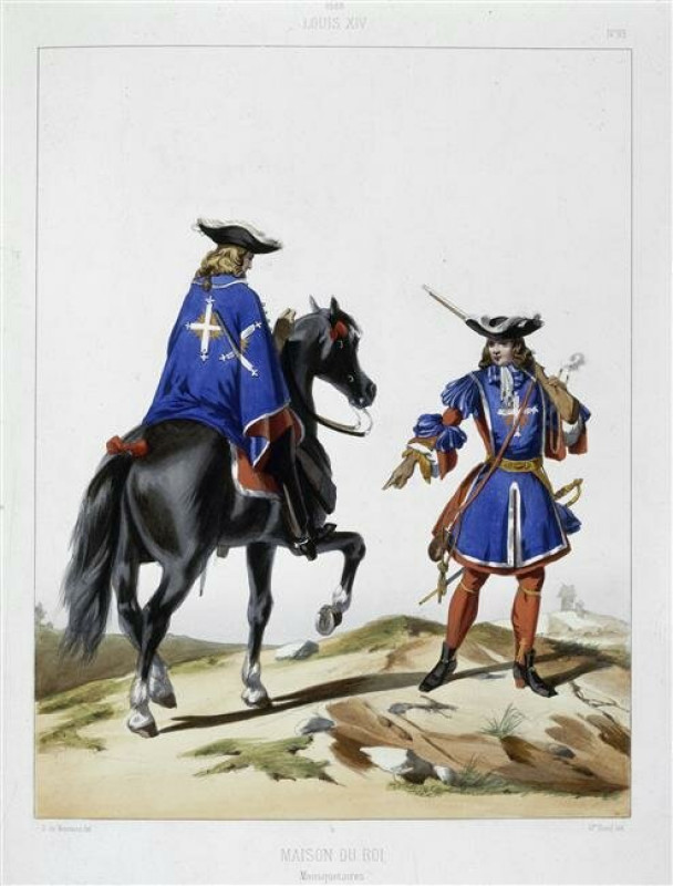 Мушкетёры конца XVII века